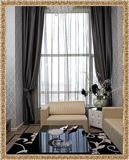 серые шторы фото